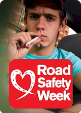 Road Safety Week 2009 - young driver smoking