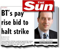 Headline of the misleading article in the Sun 8 June 2010