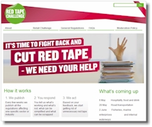 Government Red Tape Challenge web site