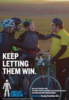 Prostate Cancer UK - Men United - cycling poster