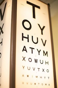 traditional eye test chart