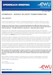 CWU Openreach Briefing